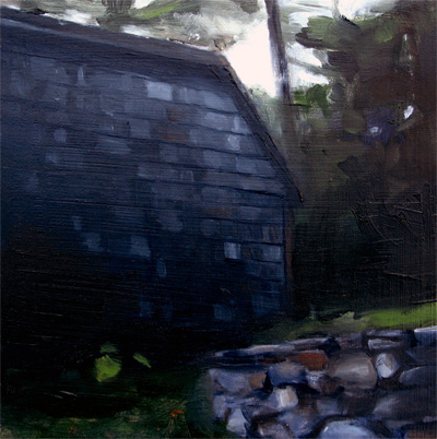 """Lake House at Dusk, Lake Monomanoc, NH"" original fine art by Michael William"