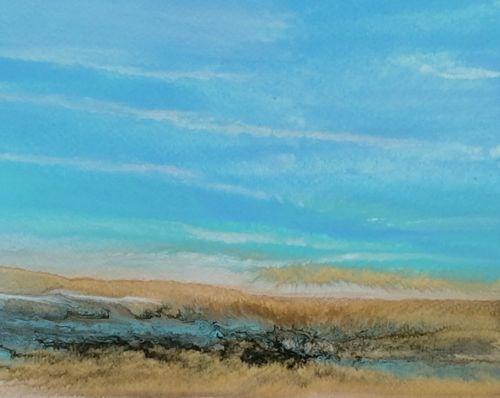 """Abstract Seascape Painting Sea Study 45  by Colorado Contemporary Artist Kimberly Conrad"" original fine art by Kimberly Conrad"