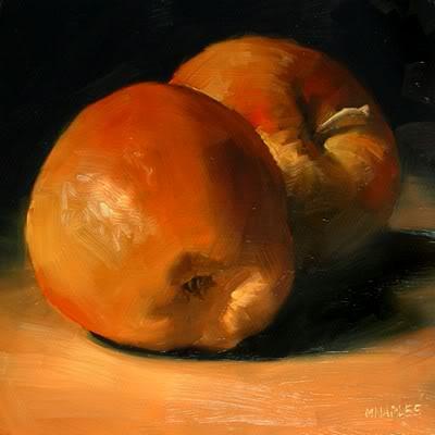 """""""Sunlit Apples"""" original fine art by Michael Naples"""