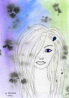 """Purple Eye"" original fine art by Kali Parsons"