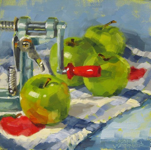 """""""Apple Pie Season"""" original fine art by Karen Werner"""
