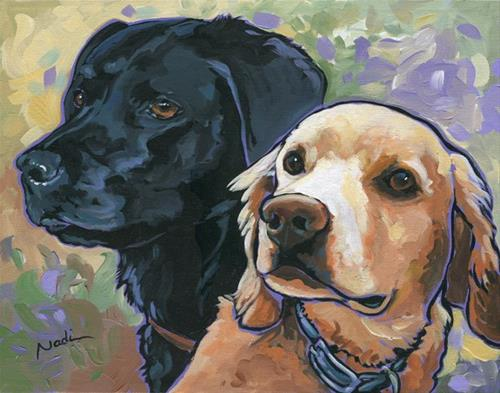"""Ralphie and Lucy"" original fine art by Nadi Spencer"