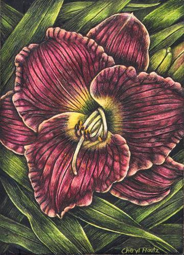 """Daylily"" original fine art by Cheryl Plautz"