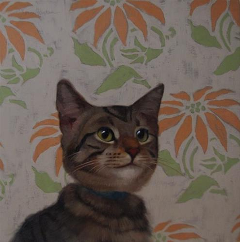 """Kris the Tabby"" original fine art by Diane Hoeptner"