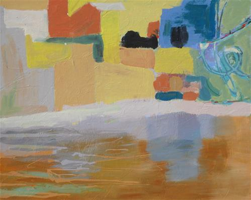 """""""Village"""" original fine art by Priscilla Bohlen"""