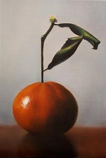 """""""Tangerine 2"""" original fine art by Jonathan Aller"""