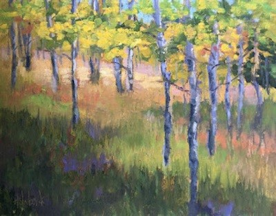 """Early Fall Aspen"" original fine art by Pam Holnback"