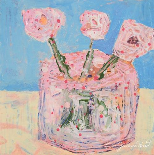 """Floral Series No 101"" original fine art by Katie Jeanne Wood"