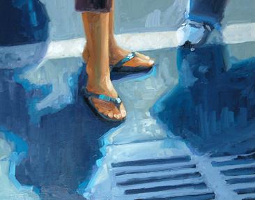 """No 326 Afternoon Light"" original fine art by Robin J Mitchell"