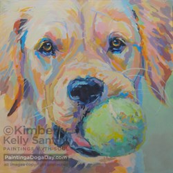 """""""Prints & Reproductions Available of Play Ball Paintings"""" original fine art by Kimberly Santini"""