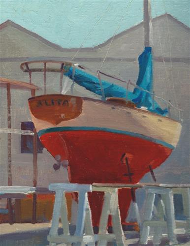 """""""Dry docked"""" original fine art by J. Thomas soltesz"""