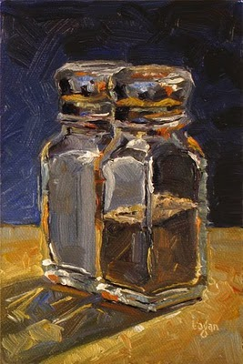 """Salt and Pepper Shakers"" original fine art by Raymond Logan"