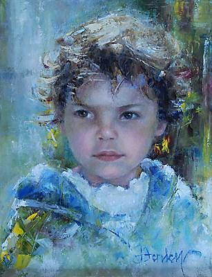 """Lucy M"" original fine art by Denise Henley"