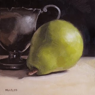 """Pewter With Pear"" original fine art by Michael Naples"