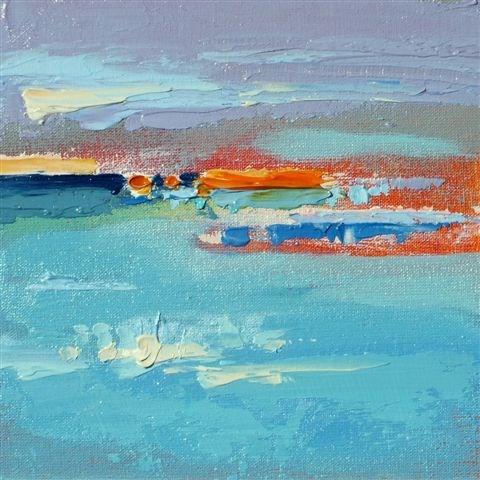 """Landscape 123"" original fine art by Ewa Kunicka"