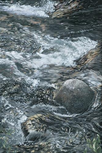 """One Rock"" original fine art by Nadi Spencer"