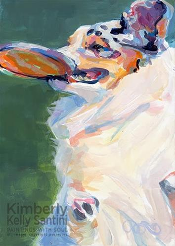 """Cheyenne Can Fly"" original fine art by Kimberly Santini"