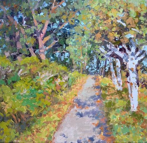 """Path Through the Trees"" original fine art by Andrew Daniel"