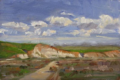 """White Cliffs of Santa Maria"" original fine art by Raymond Logan"