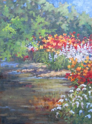 """""""COLOR ALONG THE YELLOW BREECHES An Original Plein Air Oil Painting by Claire Beadon Carnell"""" original fine art by Claire Beadon Carnell"""