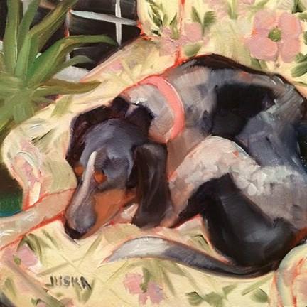 """""""Lucy - Lu (Blue Tick Coon Hound)"""" original fine art by Elaine Juska Joseph"""