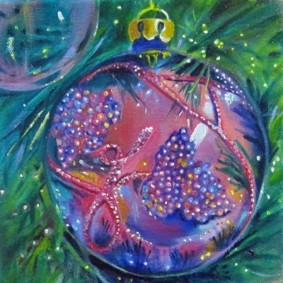 """Happy Holidays!"" original fine art by Linda McCoy"