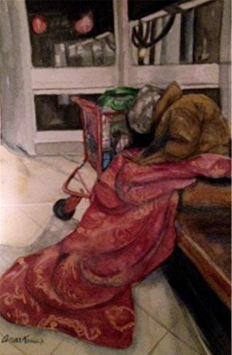 """""""Sunday Mass #2"""" original fine art by Anoa Kanu"""