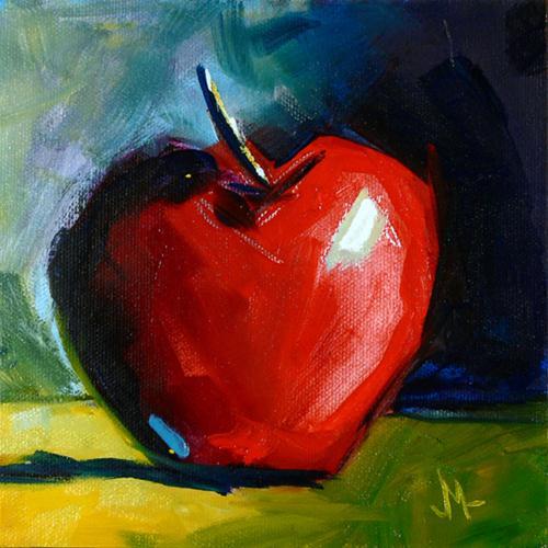 """Apple 32"" original fine art by - JanettMarie"