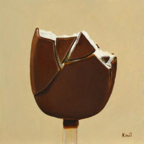 """Ice Cream Bar with Bites - Commission"" original fine art by Kim Testone"