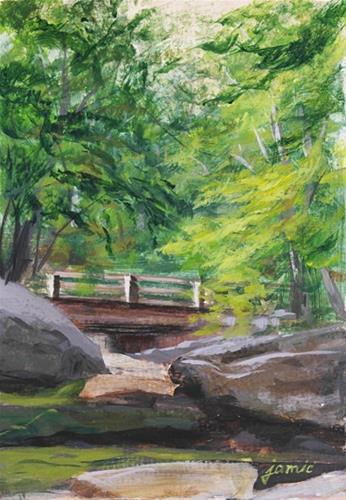 """Bridge Over the Dry Creek Bed"" original fine art by Jamie Williams Grossman"
