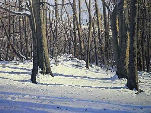 """Snowy Afternoon"" original fine art by Daniel Fishback"