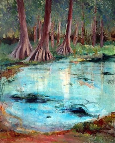 """Santa Fe Springs Plein Air - Naked Spring"" original fine art by Michele Karahalios"