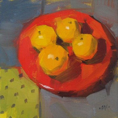 """Four On Red"" original fine art by Carol Marine"