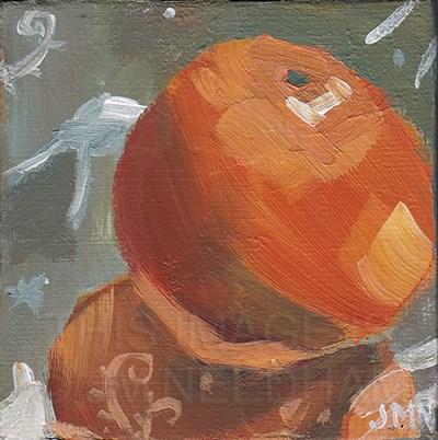 """""""Clementines: Silver"""" original fine art by J M Needham"""