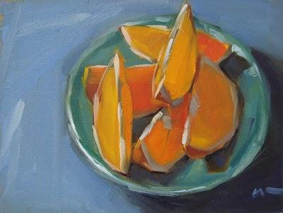 """Buncha Slices --- SOLD"" original fine art by Carol Marine"