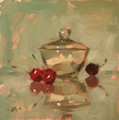 """Craving Sweet & workshop demo"" original fine art by Carol Marine"