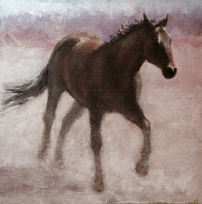 """Traveler"" original fine art by David Larson Evans"