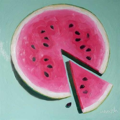 """Watermelon"" original fine art by Bobbi Heath"
