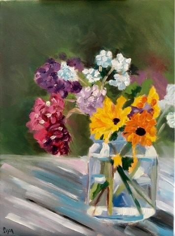"""Exploring Florals"" original fine art by Piya Samant"