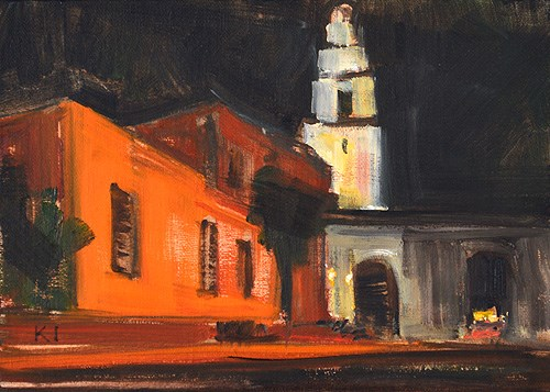"""Night on the Prado"" original fine art by Kevin Inman"