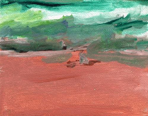 """Wave Meditation"" original fine art by Donna Crosby"