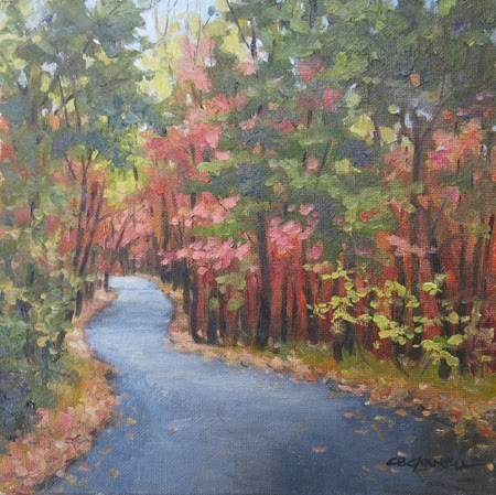 """""""'Kings Gap Road'  An Original Oil Painting by Claire Beadon Carnell"""" original fine art by Claire Beadon Carnell"""