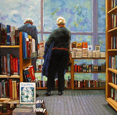 """One For The Books"" original fine art by Karin Jurick"