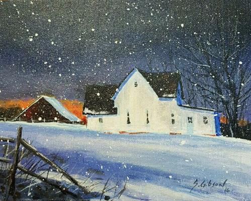 """Margaret Brown's Farmhouse"" original fine art by Steve Gibson"