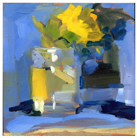 """#771 Sunflower in My Pesto"" original fine art by Lisa Daria"