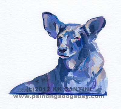 """Sweetpea, A Painted Sketch"" original fine art by Kimberly Santini"