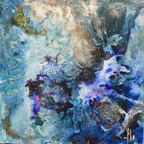 """Original Abstract Painting Dark Energy  by New Orleans Artist Lou Jordan"" original fine art by Lou Jordan"