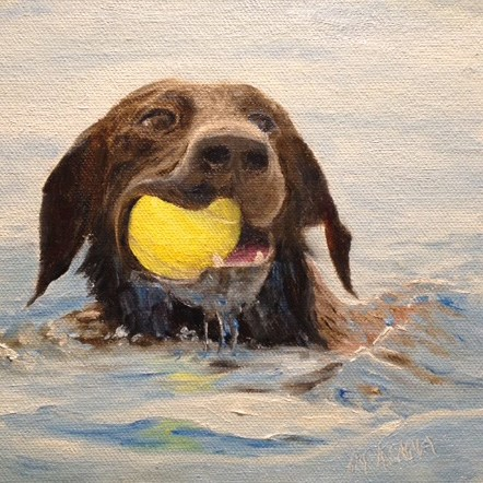 """I Got It!"" original fine art by Judith McKenna"