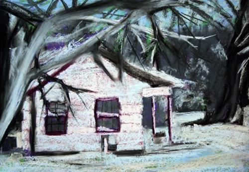 """""""Cold Day In Commerce"""" original fine art by Donna Crosby"""