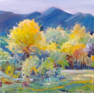 """Late Autumn Sunshine"" original fine art by Reveille Kennedy"